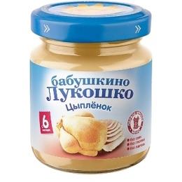 "Бабушкино Лукошко пюре ""Цыпленок"" с 6 месяцев, 100 г"