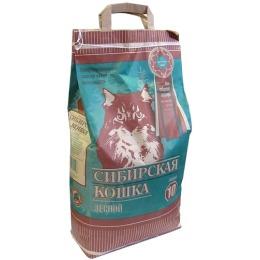"""Сибирская Кошка наполнитель """"Лесной"""" для кошачьих туалетов, древесный"""