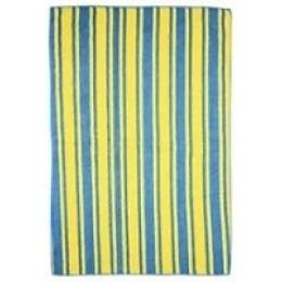 """Rainbow Home полотенце """"Разноцветная полоска"""", желто-голубое, 40х60 см"""