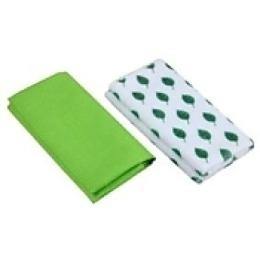 "Rainbow Home набор ""Листик"": полотенце 50х50 см + салфетка 35х35 см, зеленый"