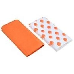 "Rainbow Home набор ""Персик"": полотенце 50х50 см + салфетка 35х35 см, оранжевый"