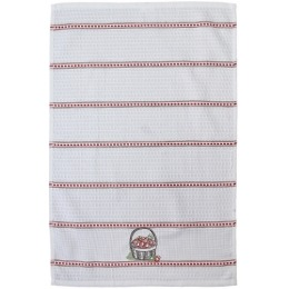 "Bonita полотенце ""Вишня в корзине"" вафельное, с вышивкой, белое, 40х60 см"