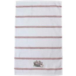 """Bonita полотенце """"Клубника в корзине"""" вафельное, с вышивкой, белое, 40х60 см"""