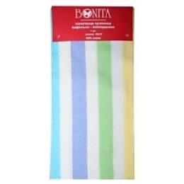 """Bonita полотенце """"Фиеста 1"""" вафельно-жаккардовое, синий, красный, 45х70 см"""