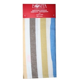 """Bonita полотенце """"Фиеста 3"""" вафельно-жаккардовое, оливковое и коричневое, 45х70 см"""