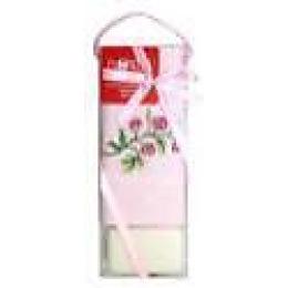 "Bonita полотенце ""Цветок"" вафельное, с мылом, розовое, 45х70 см"