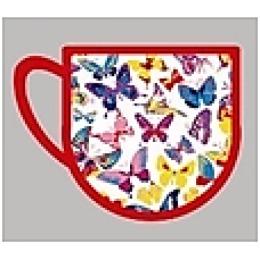 "Bonita прихватка ""Бабочки"" чашка, 15х15 см"