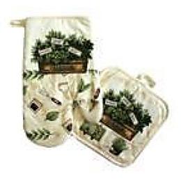 "Bonita набор ""Травы"": рукавица + прихватка"