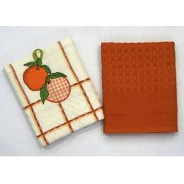 """Bonita набор полотенец """"Апельсин"""" белые, 2 предмета"""