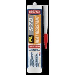 """Loctite герметик """"PL S70"""" высокотемпературный, красно-коричневый"""