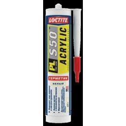 """Loctite герметик """"PL S50"""" акриловый, морозостойкий, белый"""