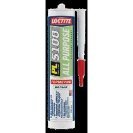 """Loctite герметик """"PL S100"""" силиконовый, многоцелевой, белый"""