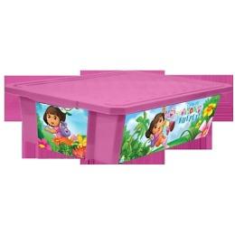 """Little Angel ящик """"Даша путешественница"""" x-box, детский,  на колесах, для хранения игрушек"""