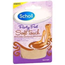 Scholl подушечки гелевые, мягкие, для закрытой обуви, уменьшающие давление при ходьбе, для подушечек стопы, 1 пара