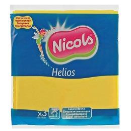 """Nicols салфетки """"Helios"""" универсальные, вискозные, 3 шт"""
