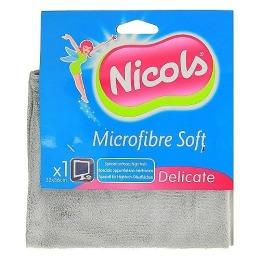 """Nicols тряпка """"Soft"""" для бытовой техники, микрофибра, 1 шт"""