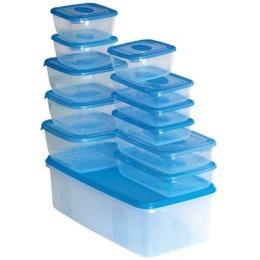 """Plast Team набор емкостей """"Polar"""" для хранения пищевых продуктов, голубые"""