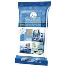 Русалочка салфетки влажные для ухода за бытовой и оргтехникой, 24 шт