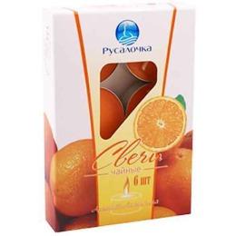 "Русалочка свечи чайные ""Апельсин"", 6 шт"