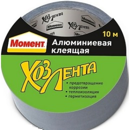 """Момент лента клеящая """"Хозлента"""" алюминевая, 10 м"""