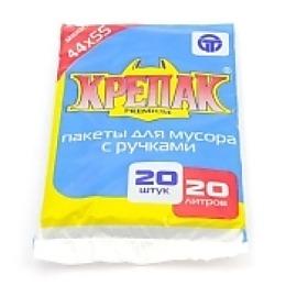 Крепак пакеты для мусора, 20 литров, 20 шт