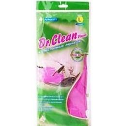 """Dr.Clean перчатки """"Flower"""" хозяйственные, розовые"""
