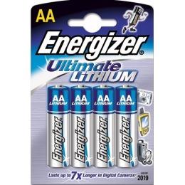 """Energizer батарейки """"Ultim Lithium"""" литиевые, пальчиковые, 4 шт"""
