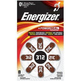 "Energizer батарейки ""Hearing. Aid 312"" для слухового аппарата, 8 шт"