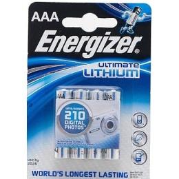 """Energizer батарейки """"Ultimate. FR03"""" литиевые, мизинчиковые, 4 шт"""