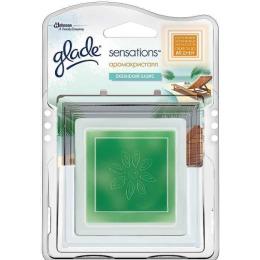 """Glade освежитель воздуха аромакристалл """"Океанский оазис""""основной блок, 8 г"""
