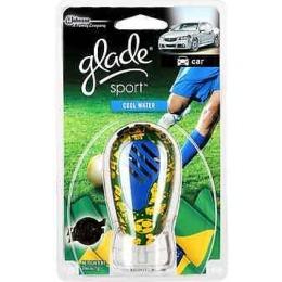 """Glade освежитель воздуха для автомобиля """"Sport cool water"""" футбольная коллекция, 7 мл"""