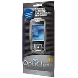 OptiClean влажные салфетки для мобильных телефонов, 15 шт