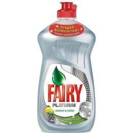 "Fairy средство для мытья посуды ""PLATINUM. Лимон и лайм"", 480 мл"