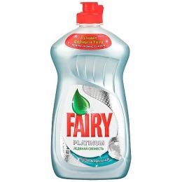 """Fairy средство для мытья посуды """"PLATINUM. Ледяная свежесть"""",  480 мл"""