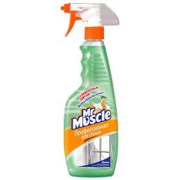 Мистер Мускул чистящее и моющее средство для стекол с нашатырным спиртом, триггер, 500 мл