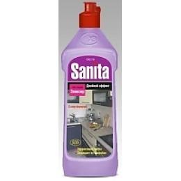 """Sanita эликсир """"Двойной Эффект с хлором"""" для чистки рабочих поверхностей на кухне и антимикробной обработки, 500 г"""