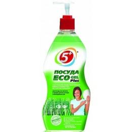 """5+ гель для мытья посуды """"Eco Plus. Крапива и Ромашка"""", 775 мл"""