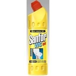 "Sanfor гель для туалетной комнаты ""WC gel LEMON FRESH"" универсальный, 1000 г"