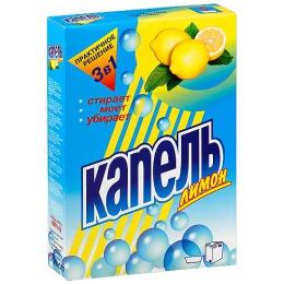 """Аист стиральный порошок """"Капель"""" лимон, 400 г"""