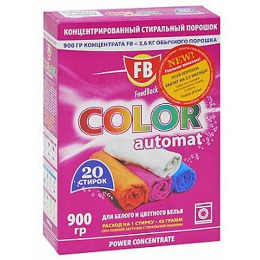 """FeedBack стиральный порошок """"Color"""" сильно концентрированный автомат для белого и цветного белья, 900 г"""