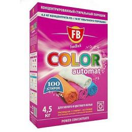 """FeedBack стиральный порошок """"Color"""" сильно концентрированный автомат для белого и цветного белья, 4,5 кг"""