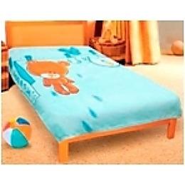 """Teddy плед """"Мишка голубой"""" микрофибра, 127х152 см"""