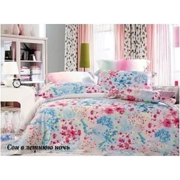 """Tiffany`s Secret комплект постельного белья """"Сон в летнюю ночь"""" 1.5 спальное, в пвх упаковке, наволочки 50х70 см"""