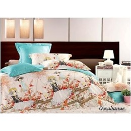 """Tiffany`s Secret комплект постельного белья """"Ожидание"""" 2-х спальное в пвх упаковке, наволочки 50х70 см"""