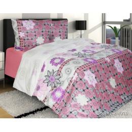 """Блаkiт комплект постельного белья """"Фортуна"""" 1.5 спальное,однотонная простынь, наволочки 50х70 см"""