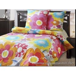 "Блаkiт комплект постельного белья ""Цветик семицветик"" 2-х спальное, наволочки 50х70 см"