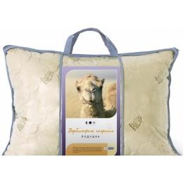 "Мягкий сон подушка ""Верблюжья шерсть"" силиконизированое волокно тик, 50х70"