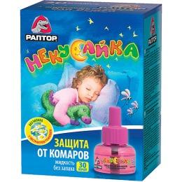 """Раптор жидкость от комаров для детей """"Некусайка. 30 ночей"""""""