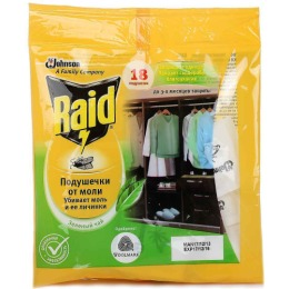 "Raid подушечки от моли ""Зеленый чай"", 18 шт"