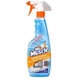 Мистер Мускул чистящее и моющее средство для стекол и других поверхностей со спиртом с распылителем, 500 мл
